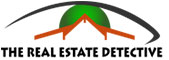 roof line graphic logo for realtor in sonoma county with caption the real estate detective